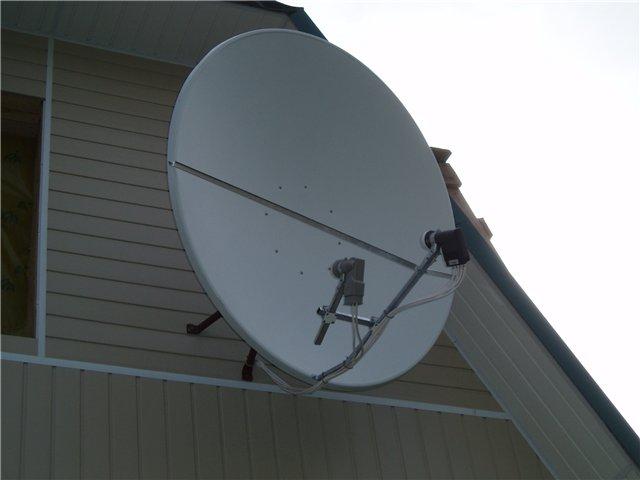 "Спутниковая антенна ""Супрал 1,2 м"" в фокусе HotBird 13 град. и мультифидом на Триколор ТВ 36 град."