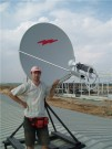 VSAT антенна Andrew 1.2m с 2-х ваттным передатчиком для двухстороннего спутникового интернета, телефонии и видеонаблюдения...